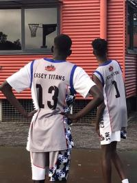 Members of the Casey Titans team wearing their jerseys